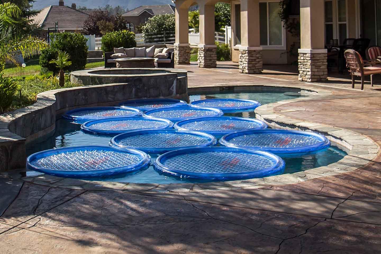 Solar sun rings aros solares para calentar la piscina - Agua de la piscina turbia ...